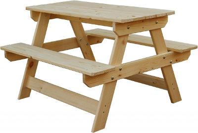 Dětský dřevěný zahradní nábytek Piknik Mini trim