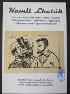Kamil Lhoták - Jules Verne: zinkografie z knihy Robur Dobyvatel 3/37