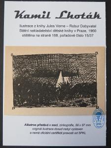 Kamil Lhoták - Jules Verne: zinkografie z knihy Robur Dobyvatel 15/37