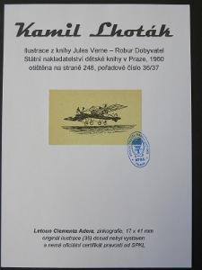 Kamil Lhoták - Jules Verne: zinkografie z knihy Robur Dobyvatel 36/37