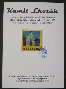 Kamil Lhoták - Jules Verne: bar. ofset z knihy Robur Dobyvatel 3/O-5