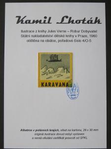 Kamil Lhoták - Jules Verne: bar. ofset z knihy Robur Dobyvatel 4/O-5