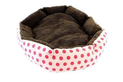 Útulný pelíšek pro kočku psa růžový