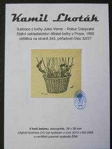 Kamil Lhoták - Jules Verne: zinkografie z knihy Robur Dobyvatel 32/37