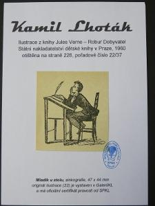 Kamil Lhoták - Jules Verne: zinkografie z knihy Robur Dobyvatel 22/37