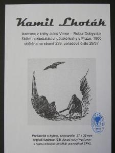 Kamil Lhoták - Jules Verne: zinkografie z knihy Robur Dobyvatel 29/37