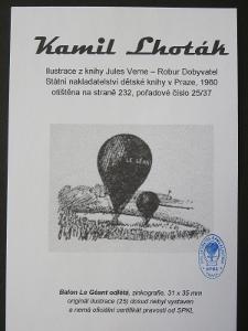 Kamil Lhoták - Jules Verne: zinkografie z knihy Robur Dobyvatel 25/37