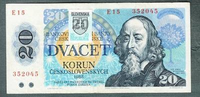 20 kčs 1988 SLOVENSKÝ KOLEK