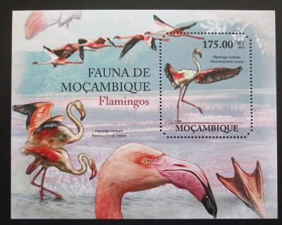 Mosambik 2011 Plameňáci Mi# Block 501 Kat 10€ 1991