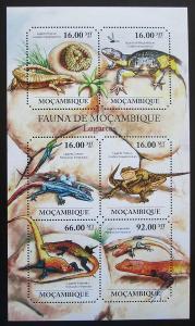 Mosambik 2011 Ještěrky Mi# 4854-59 Kat 12€ 1992