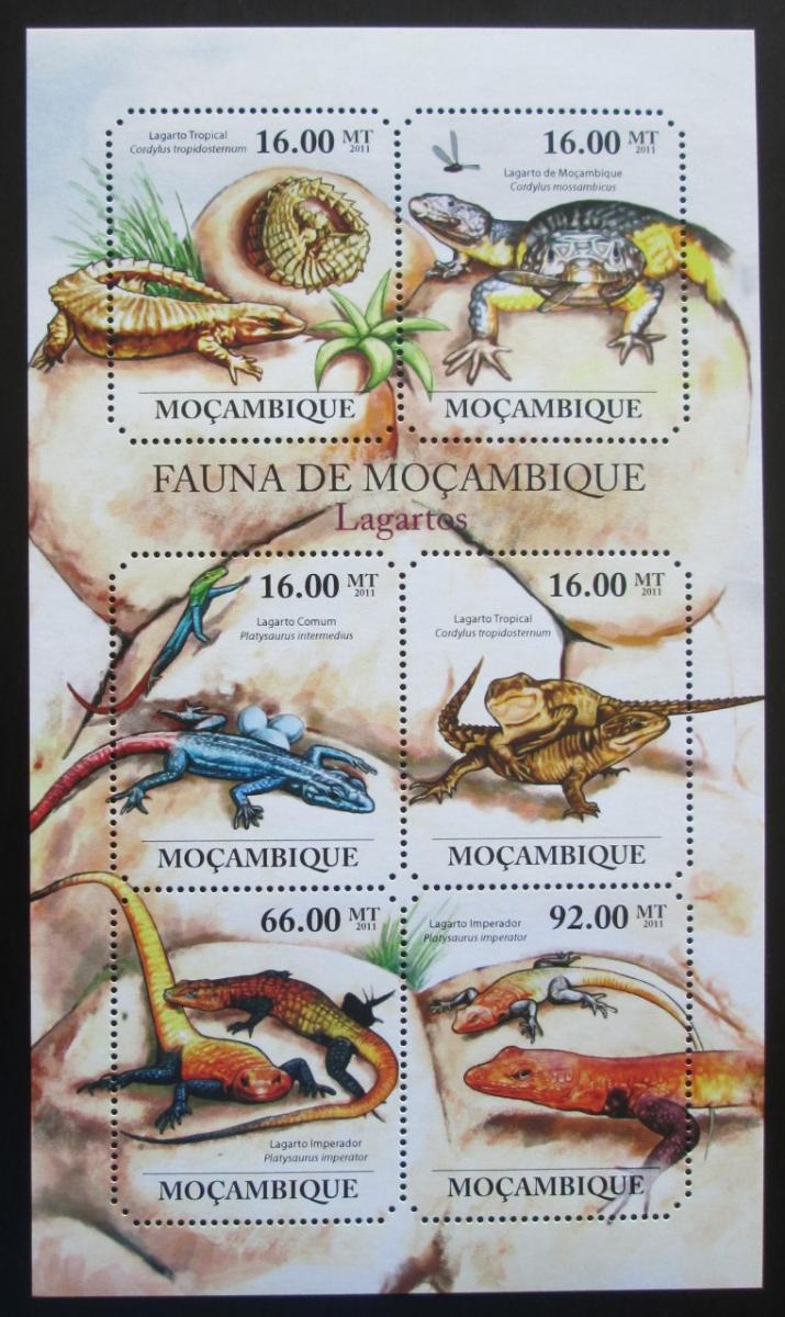 Mosambik 2011 Ještěrky Mi# 4854-59 Kat 12€ 1992 - Filatelie