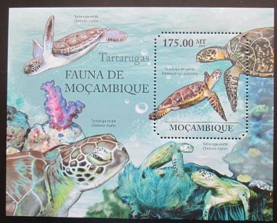 Mosambik 2011 Mořské želvy Mi# Block 495 Kat 10€ 1993