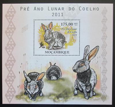 Mosambik 2010 Čínský nový rok, rok zajíce Mi# Block 376 Kat 10€ 1993