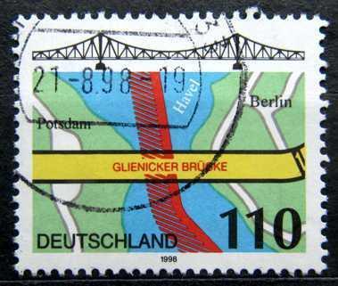 DEUTSCHLAND: MiNr.1967 Glienicke Bridge, Berlin 110pf 1998