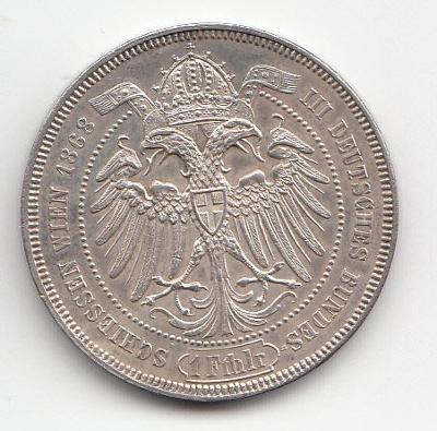 """Fr.J.I., Spolk. toliar strel. 1868 Wien,""""R"""" vzácny, super  stav TOP"""