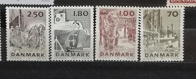 Dánsko 1978 - komplet, rybářský průmysl, rybaření 4£