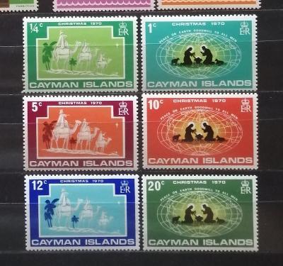 Kajmanské ostrovy 1970 - komplet, Vánoce