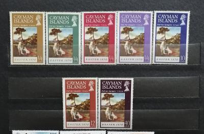 Kajmanské ostrovy 1970 - komplet, Velikonoce a umění