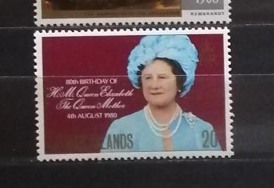 Kajmanské ostrovy 1980 - komplet, narozeniny královny matky