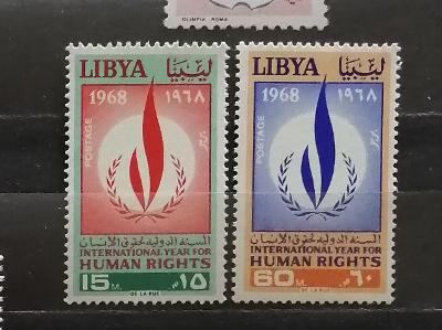 Libye 1968 - komplet, mezinárodní rok lidských práv