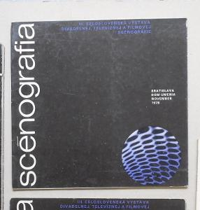 SLOVENSKO SCÉNOGRAFIA 1978 BRATISLAVA VÝSTAVA KATALOG