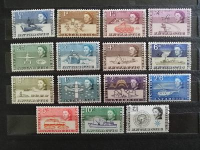 Britské Antarktické ter. 1963 - komplet první známky bez varianty 165£