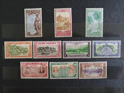 Cookovy ostrovy 1949 - komplet krásné definitivy 50£