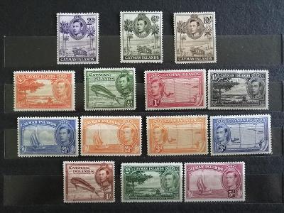 Kajmanské ostrovy 1938 - komplet definitivy 100£