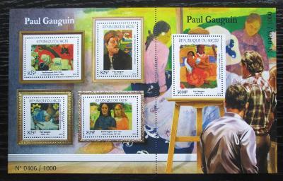 Niger 2015 Umění, Paul Gauguin Mi# 3707-11 Kat 24€ 2013