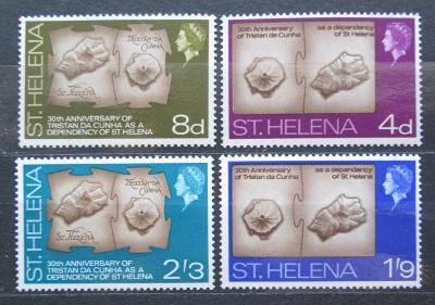 Svatá Helena 1968 Topografické mapy ostrovů Mi# 188-91 2018