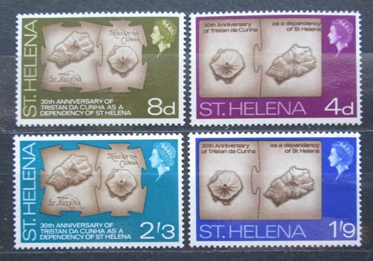 Svatá Helena 1968 Topografické mapy ostrovů Mi# 188-91 2018 - Filatelie