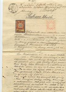 Nové Strašecí - Smlouva trhová-1900, ověřovací doložky,c.k. okres.soud