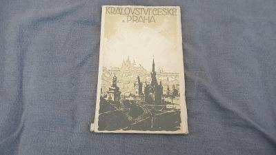 Království České a Praha-průvodce-barevný plán Prahy z roku 1913