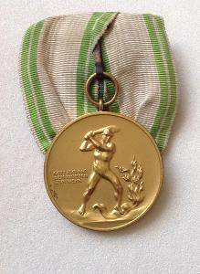 Medaile Sasko,Německo hasiči 40 let věrné služby R!
