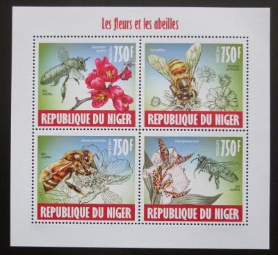 Niger 2013 Včely Mi# 2421-24 Kat 12€ 2020