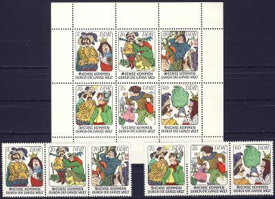 DDR 1977 **/ Mi. 2281-6 + soutisk , komplet , /BL/