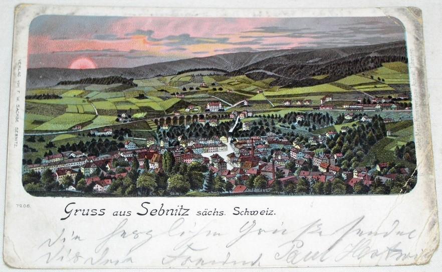 Německo - Sebnitz sächs. Schweiz  1901 litografie - Pohlednice