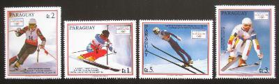 Paraguay 1990 ZOH Albertville nekompl. Mi# 4471-74 Kat 5.80€ 2024