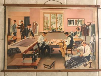 Školní plakát Pospíšil - oděvnický salón , litografie