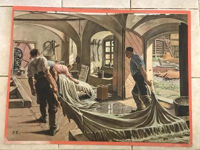 Školní plakát Koželuh , litografie