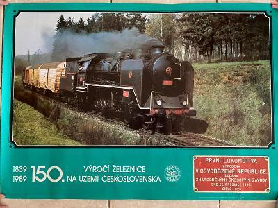 150 let provozu železnice - parní lokomotiva