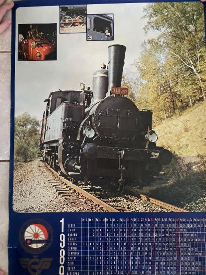 1980 kalendář - parní lokomotiva 314 303 - Ostatní