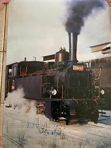 parní lokomotiva plakát 313 432