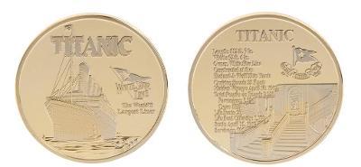 Titanic - pamětní mince zlatá, sada 3 ks