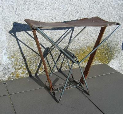 Skládací rybářská sedačka kožená