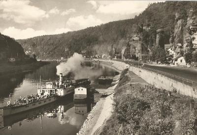 HŘENSKO - přístaviště parníků - České Švýcarsko - Děčín