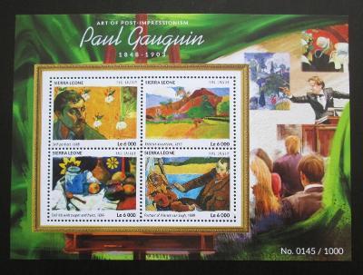 Sierra Leone 2015 Umění, Paul Gauguin Mi# 6456-59 Kat 11€ 2026