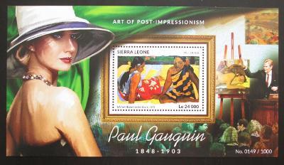 Sierra Leone 2015 Umění, Paul Gauguin Mi# Block 826 Kat 11€ 2026