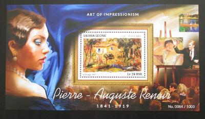 Sierra Leone 2015 Umění, Renoir Mi# Block 823 Kat 11€ 2026