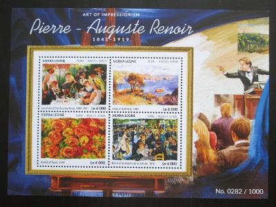 Sierra Leone 2015 Umění, Renoir Mi# 6444-47 Kat 11€ 2027